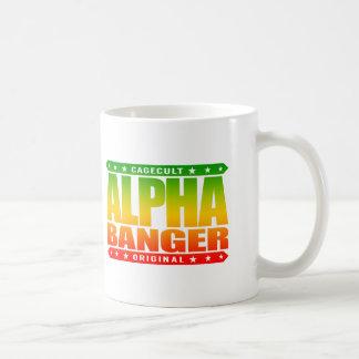 ALPHA BANGER - I'm An Undefeated Kickboxer, Rasta Classic White Coffee Mug