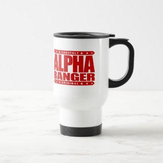 ALPHA BANGER - I'm An Undefeated Kickboxer, Red 15 Oz Stainless Steel Travel Mug
