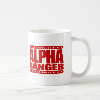 ALPHA BANGER - I'm An Undefeated Kickboxer, Red Classic White Coffee Mug
