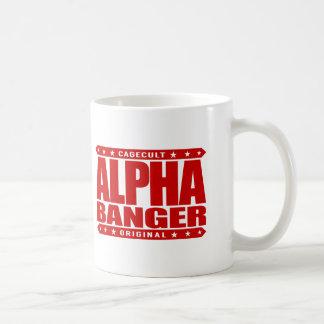 ALPHA BANGER - I'm An Undefeated Kickboxer, Red Basic White Mug