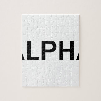 Alpha (BLACK) Jigsaw Puzzle