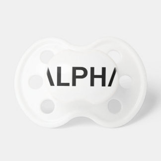 Alpha (BLACK) Pacifier