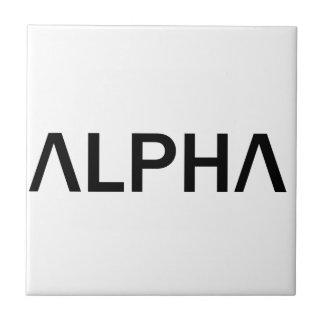 Alpha (BLACK) Tile