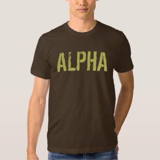 Alpha chemise pour les hommes tshirt