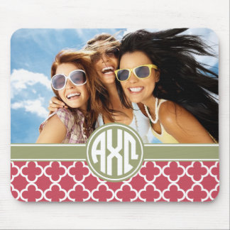 Alpha Chi Omega | Monogram and Photo Mouse Pad