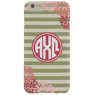 Alpha Chi Omega | Monogram Stripe Pattern Barely There iPhone 6 Plus Case