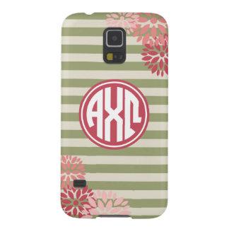 Alpha Chi Omega | Monogram Stripe Pattern Galaxy S5 Cases