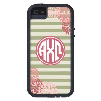 Alpha Chi Omega | Monogram Stripe Pattern iPhone 5 Cases