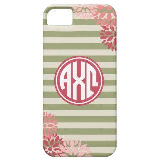 Alpha Chi Omega | Monogram Stripe Pattern iPhone 5 Cover