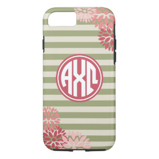 Alpha Chi Omega | Monogram Stripe Pattern iPhone 7 Case