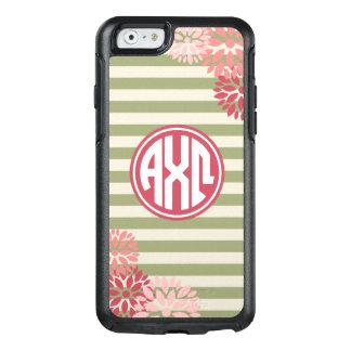 Alpha Chi Omega   Monogram Stripe Pattern OtterBox iPhone 6/6s Case