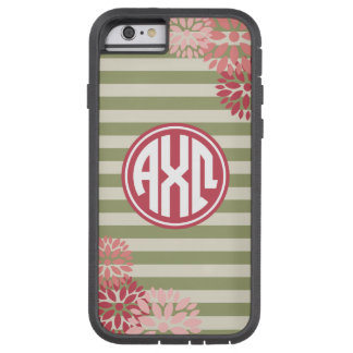 Alpha Chi Omega | Monogram Stripe Pattern Tough Xtreme iPhone 6 Case