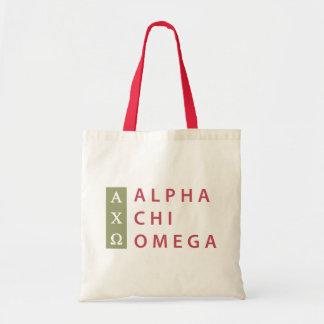 Alpha Chi Omega | Stacked Logo Tote Bag