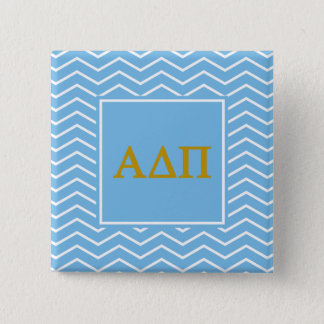 Alpha Delta Pi | Chevron Pattern 2 Inch Square Button