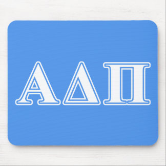 Alpha Delta Pi Dark Blue and White Letters Mouse Pad