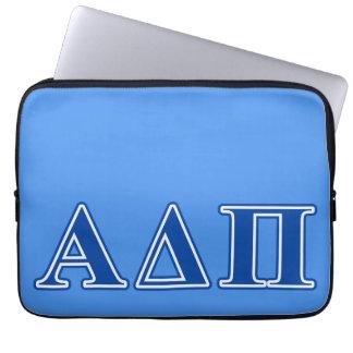 Alpha Delta Pi Dark Blue Letters Laptop Sleeve