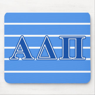 Alpha Delta Pi Dark Blue Letters Mouse Pad