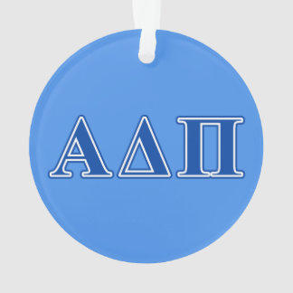 Alpha Delta Pi Dark Blue Letters Ornament
