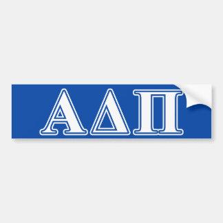 Alpha Delta Pi Light Blue and White Letters Bumper Sticker