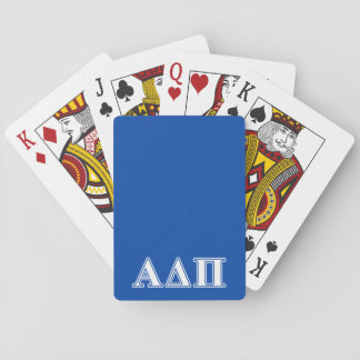 Alpha Delta Pi Light Blue and White Letters Playing Cards