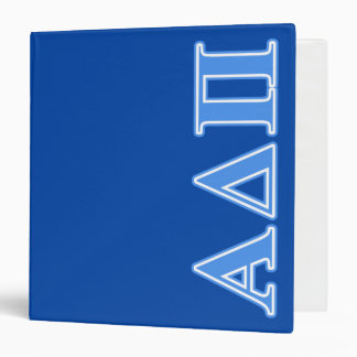 Alpha Delta Pi Light Blue Letters 3 Ring Binder