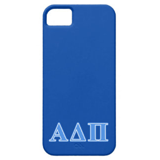 Alpha Delta Pi Light Blue Letters iPhone 5 Covers