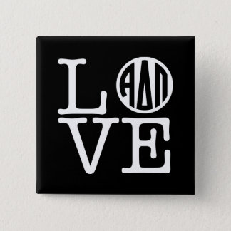 Alpha Delta Pi | Love 2 Inch Square Button