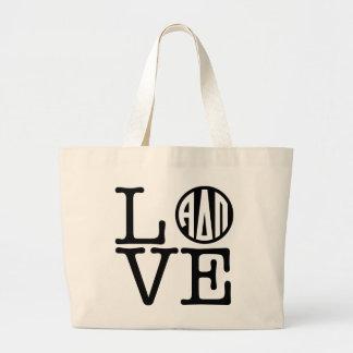 Alpha Delta Pi | Love Large Tote Bag