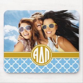 Alpha Delta Pi | Monogram and Photo Mouse Pad