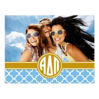 Alpha Delta Pi | Monogram and Photo Postcard