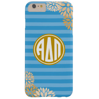Alpha Delta Pi | Monogram Stripe Pattern Barely There iPhone 6 Plus Case