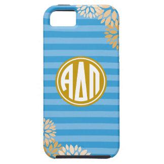 Alpha Delta Pi | Monogram Stripe Pattern iPhone 5 Cases
