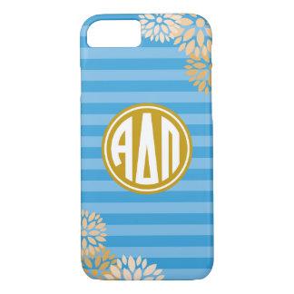 Alpha Delta Pi | Monogram Stripe Pattern iPhone 7 Case