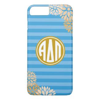 Alpha Delta Pi | Monogram Stripe Pattern iPhone 7 Plus Case