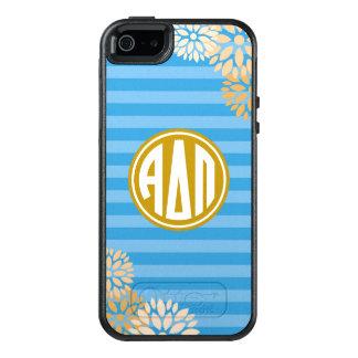 Alpha Delta Pi | Monogram Stripe Pattern OtterBox iPhone 5/5s/SE Case