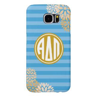Alpha Delta Pi | Monogram Stripe Pattern Samsung Galaxy S6 Cases