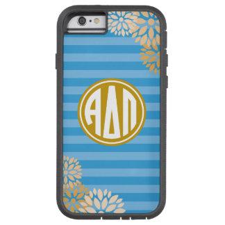 Alpha Delta Pi | Monogram Stripe Pattern Tough Xtreme iPhone 6 Case