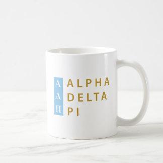 Alpha Delta Pi   Stacked Logo Coffee Mug