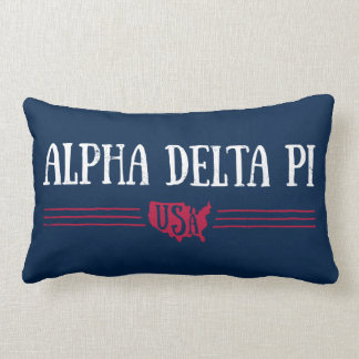 Alpha Delta Pi - USA Lumbar Pillow