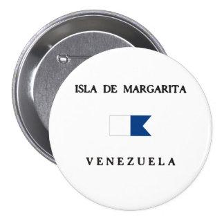 Alpha drapeau de piqué d'Isla de Margarita Pin's Avec Agrafe