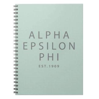 Alpha Epsilon Phi | Est. 1909 Notebook