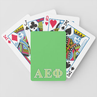 Alpha Epsilon Phi Green Letters 2 Bicycle Playing Cards
