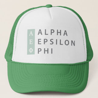 Alpha Epsilon Phi | Stacked Logo Trucker Hat