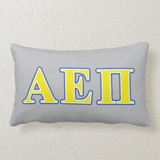 Alpha Epsilon Pi Blue and Yellow Letters Lumbar Pillow