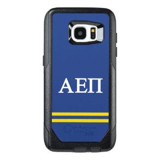 Alpha Epsilon Pi | Sport Stripe OtterBox Samsung Galaxy S7 Edge Case