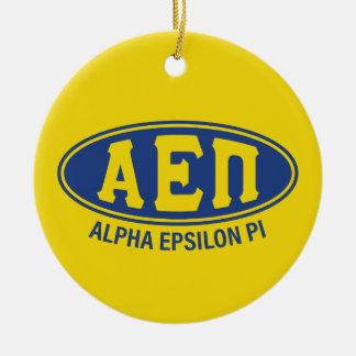 Alpha Epsilon Pi | Vintage Round Ceramic Ornament