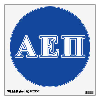 Alpha Epsilon Pi White and Blue Letters Wall Decal