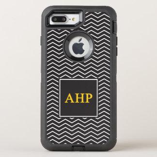 Alpha Eta Rho   Chevron Pattern OtterBox Defender iPhone 8 Plus/7 Plus Case