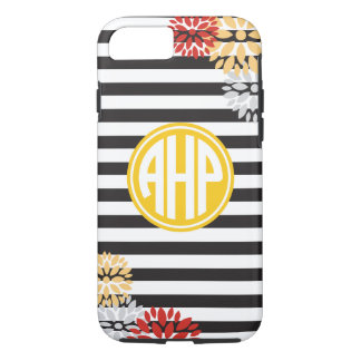 Alpha Eta Rho | Monogram Stripe Pattern iPhone 8/7 Case
