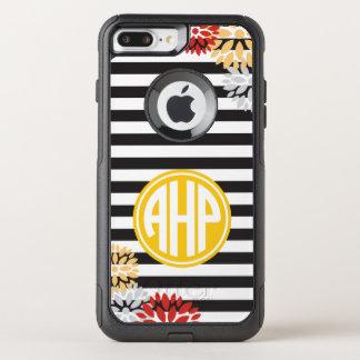 Alpha Eta Rho   Monogram Stripe Pattern OtterBox Commuter iPhone 8 Plus/7 Plus Case